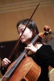 Θηλυκός μουσικός viola Στοκ Εικόνες