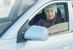 Θηλυκός οδηγός στο αυτοκίνητο Στοκ εικόνες με δικαίωμα ελεύθερης χρήσης