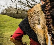 Θηλυκός πολεμιστής Βίκινγκ Στοκ φωτογραφίες με δικαίωμα ελεύθερης χρήσης