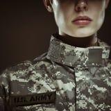 Θηλυκός στρατιώτης αμερικάνικου στρατού Στοκ εικόνες με δικαίωμα ελεύθερης χρήσης