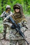 Θηλυκός στρατιώτης αμερικάνικου στρατού Στοκ Εικόνες