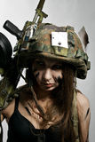 Θηλυκός στρατιώτης Στοκ φωτογραφία με δικαίωμα ελεύθερης χρήσης