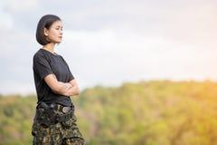 Θηλυκός στρατιώτης Στοκ Φωτογραφίες