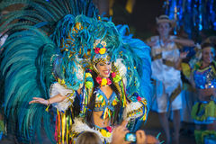 Θηλυκός χορευτής της Βραζιλίας καρναβάλι Στοκ Εικόνες