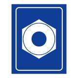 Θηλυκό εικονίδιο γυναικείων δωματίων βιδών Λογότυπο για τις γυναίκες WC Στοκ Εικόνες