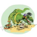 Θηλυκό δεινοσαύρων τ Rex Στοκ Φωτογραφία