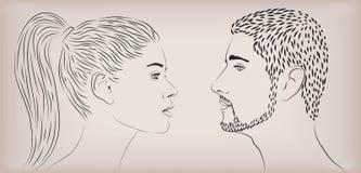 Θηλυκό κοριτσιών γυναικών ανθρώπινο λευκό αγαπώντας ζεύγος ανθρώπων γυναικείων ανδρών αρσενικό Στοκ Εικόνες