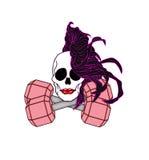 Θηλυκό κρανίο Brunette στοκ φωτογραφία με δικαίωμα ελεύθερης χρήσης