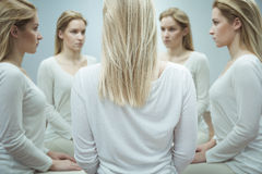 Θηλυκό με το διανοητικό πρόβλημα Στοκ φωτογραφία με δικαίωμα ελεύθερης χρήσης