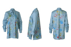 Θηλυκό μπλε πουκάμισο Στοκ φωτογραφία με δικαίωμα ελεύθερης χρήσης