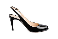 Θηλυκό παπούτσι δέρματος διπλωμάτων ευρεσιτεχνίας Στοκ φωτογραφία με δικαίωμα ελεύθερης χρήσης