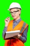 θηλυκό πορτρέτο εργαζομένων στοκ φωτογραφία με δικαίωμα ελεύθερης χρήσης
