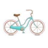 Θηλυκό ποδήλατο στο διάνυσμα Στοκ φωτογραφία με δικαίωμα ελεύθερης χρήσης