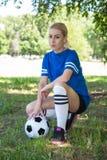 θηλυκό ποδόσφαιρο φορέων Στοκ εικόνα με δικαίωμα ελεύθερης χρήσης
