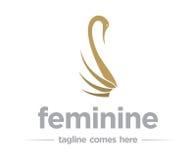 Θηλυκό πρότυπο λογότυπων στοκ εικόνα