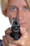 Θηλυκό πυροβόλο όπλο Στοκ Εικόνες