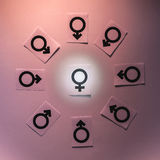 Σύμβολα γένους Στοκ φωτογραφία με δικαίωμα ελεύθερης χρήσης