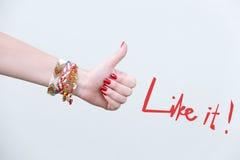 Θηλυκό χέρι που παρουσιάζει όπως το σημάδι Στοκ φωτογραφία με δικαίωμα ελεύθερης χρήσης