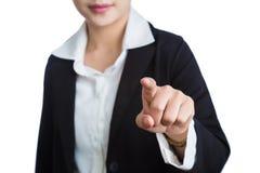 Θηλυκό χέρι της επιχειρησιακής γυναίκας που δείχνει το αντίχειρα στο θεατή Στοκ εικόνες με δικαίωμα ελεύθερης χρήσης