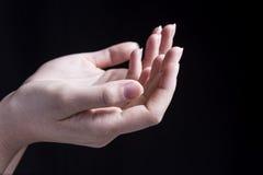 Θηλυκό χέρι Reciving Στοκ Φωτογραφία