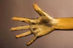 Θηλυκό χρυσό χέρι Στοκ Εικόνα