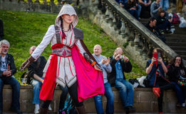 Θηλυκό cosplayer στο Sci Fi Scarborough Στοκ φωτογραφία με δικαίωμα ελεύθερης χρήσης
