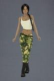 Θηλυκό lin ο στρατός Στοκ φωτογραφία με δικαίωμα ελεύθερης χρήσης