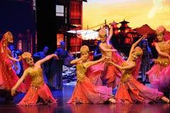 Θιβετιανά ευπρόσδεκτα χορός-μεγάλα σενάρια show† κλίμακας ο δρόμος legend† Στοκ Φωτογραφίες