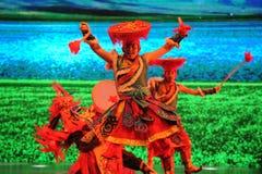 Θιβετιανά ευπρόσδεκτα χορός-μεγάλα σενάρια show† κλίμακας ο δρόμος legend† Στοκ Εικόνα