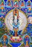 Θιβετιανά διαγράμματα τοίχων του Βούδα thangkas Στοκ φωτογραφία με δικαίωμα ελεύθερης χρήσης