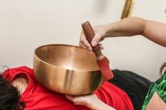 Θιβετιανά κύπελλα μουσικοθεραπείας Στοκ εικόνα με δικαίωμα ελεύθερης χρήσης