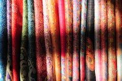 Θιβετιανά υφαντικά χρώματα στοκ εικόνες