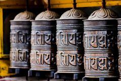 Θιβετιανές ρόδες προσευχής σε Ladakh στοκ φωτογραφία με δικαίωμα ελεύθερης χρήσης