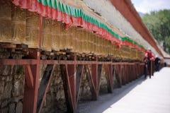 θιβετιανές ρόδες προσε&upsi Στοκ Φωτογραφία