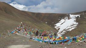Θιβετιανές σημαίες προσευχής Στοκ Εικόνα