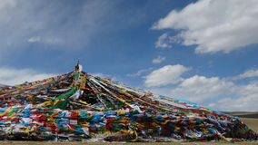 Θιβετιανές σημαίες προσευχής Στοκ φωτογραφίες με δικαίωμα ελεύθερης χρήσης