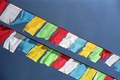 Θιβετιανές σημαίες προσευχής Στοκ Φωτογραφίες