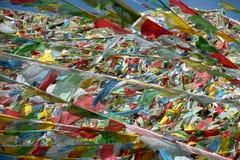 Θιβετιανές σημαίες προσευχής Στοκ Φωτογραφία
