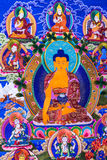 Θιβετιανή εικόνα του Βούδα thangkas Στοκ Εικόνες