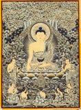 Θιβετιανή εικόνα του Βούδα thangkas Στοκ εικόνα με δικαίωμα ελεύθερης χρήσης