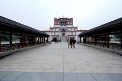 Θιβετιανή στοά αρχιτεκτονικής και ύφους της Qing Στοκ Εικόνες