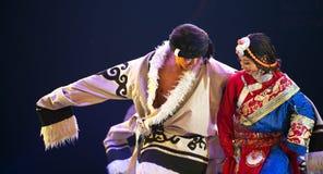 Θιβετιανοί εθνικοί χορευτές Στοκ φωτογραφία με δικαίωμα ελεύθερης χρήσης