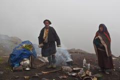 Θιβετιανοί νομάδες σε Dolpo, Νεπάλ Στοκ εικόνες με δικαίωμα ελεύθερης χρήσης