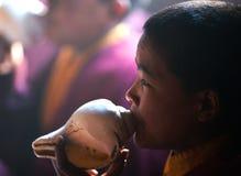 Θιβετιανός μοναχός, Νεπάλ Στοκ φωτογραφίες με δικαίωμα ελεύθερης χρήσης