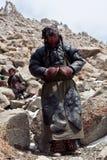 Θιβετιανός προσκυνητής στο πέρασμα Λα Drolma, Θιβέτ Στοκ φωτογραφίες με δικαίωμα ελεύθερης χρήσης