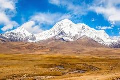 Θιβετιανό οροπέδιο σκηνή-Mt.Qungmogangze Στοκ Εικόνες