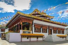 Θιβετιανό παραδοσιακό μοναστήρι Leh Ladakh, Ινδία Στοκ Φωτογραφία