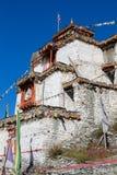 Θιβετιανό παλαιό μοναστήρι στο βουνό των Ιμαλαίων στο χωριό Manang Περιοχή Annapurna, Ιμαλάια, Νεπάλ Στοκ φωτογραφία με δικαίωμα ελεύθερης χρήσης