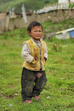 Θιβετιανό πορτρέτο παιδιών Στοκ Φωτογραφία