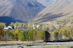 θιβετιανό χωριό Στοκ φωτογραφίες με δικαίωμα ελεύθερης χρήσης